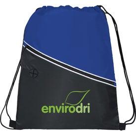 Railway Drawstring Cinch Backpack for Your Organization
