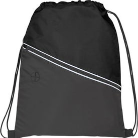 Railway Drawstring Cinch Backpack for Customization