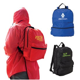 Branded Rain Jacket with Backpack