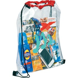 Branded Rally Clear Cinch Bag