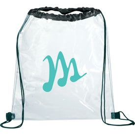 Imprinted Rally Clear Cinch Bag