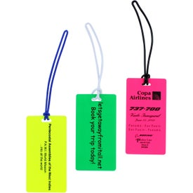 Rectangle Neon Write On Back Tag Branded with Your Logo