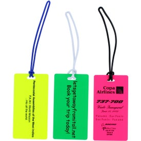Rectangle Neon Write On Back Tag for Your Company