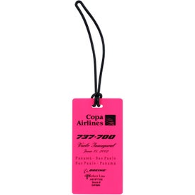 Rectangle Neon Write On Back Tag with Your Logo