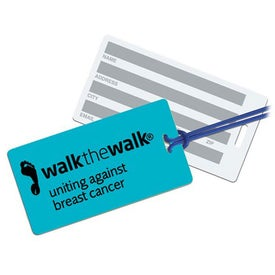 Rectangle Neon Write On Back Tag for Your Organization