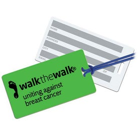 Rectangle Neon Write On Back Tag for Promotion