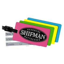 Rectangle Neon Write On Back Tag