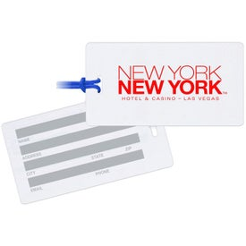 Rectangle White Write-On-Back Tag