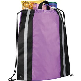 Reflective Drawstring Backpack Imprinted with Your Logo