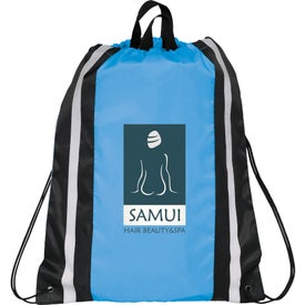 Reflective Drawstring Backpack with Your Slogan