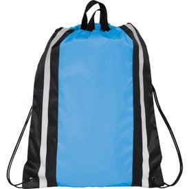 Reflective Drawstring Backpack for Marketing