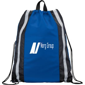 Reflective Drawstring Backpack for Your Company