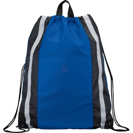 Branded Reflective Drawstring Backpack