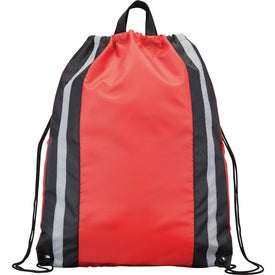 Reflective Drawstring Backpack for Advertising