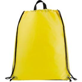 Printed Reflective Drawstring Backpack