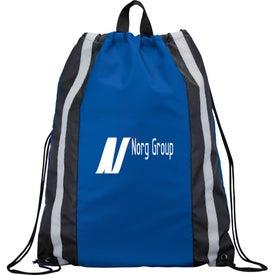 Advertising Reflective Drawstring Backpack