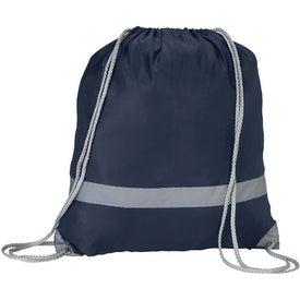 Reflective Drawstring Rucksack Imprinted with Your Logo