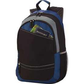 Reflective Stripe Computer Backpack Branded with Your Logo