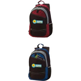 Logo Reflective Stripe Computer Backpack