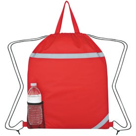 Logo Reflecto-Insulated Drawstring Backpack