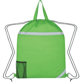 Monogrammed Reflecto-Insulated Drawstring Backpack