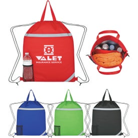 Reflecto-Insulated Drawstring Backpack