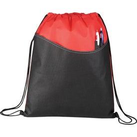 Imprinted Rivers Pocket Cinch Backpack