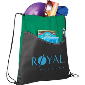 Printed Rivers Pocket Cinch Backpack