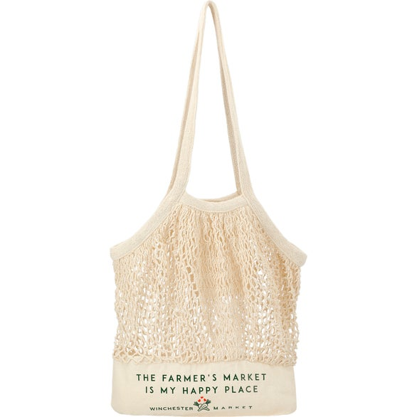 Beige Riviera Cotton Mesh Convention Tote