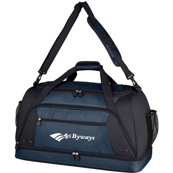 Black Rockfest Drop-Bottom Duffel Bag