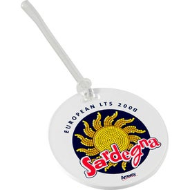 Round Digital Luggage Tags