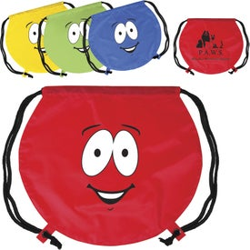 Emoticon Round Drawstring Backpack