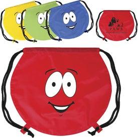 Emoticon Round Drawstring Backpack