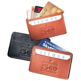 Roxy Gusseted Card Case Imprinted with Your Logo