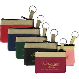 Safari Classic Zip Pouches with Key Ring