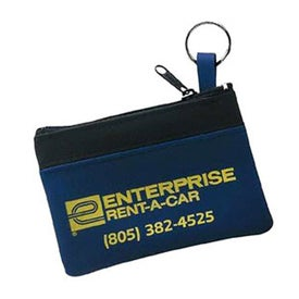 Single Pocket Coin and Key Zippered Pouch with Your Slogan