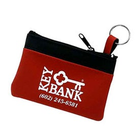 Single Pocket Coin and Key Zippered Pouch for Your Organization