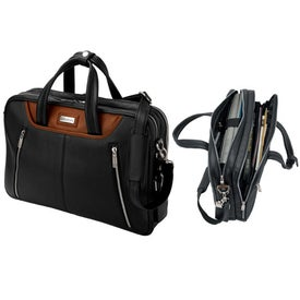 Siracusa Panarcci and Throw Leather Briefcase