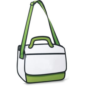 Imprinted Sketch Messenger Bag