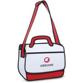 Branded Sketch Messenger Bag