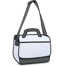 Monogrammed Sketch Messenger Bag