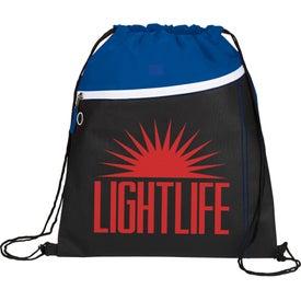 Slant Drawstring Cinch Backpack