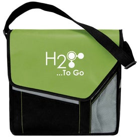 Slant Flap Messenger Imprinted with Your Logo