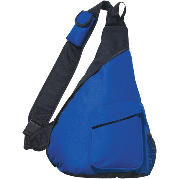 Royal Blue / Black Sling Backpack