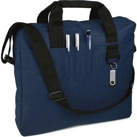 Monogrammed Slim Organizer Briefcase