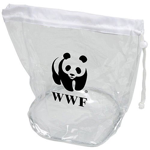 promotional small clear drawstring bags with custom logo for 1 66 ea