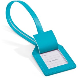 Advertising Small-N-Smart Leatherette Bag Tag