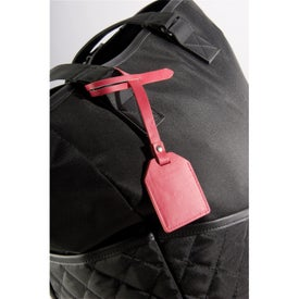 Small-N-Smart Leatherette Bag Tag with Your Logo