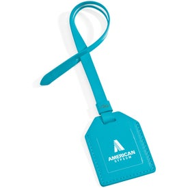 Small-N-Smart Leatherette Bag Tag Imprinted with Your Logo