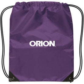 Branded Small Nylon Drawstring Backpack